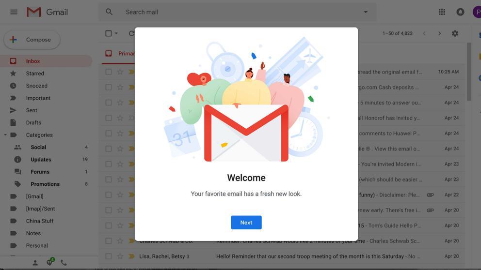 Gmail y su nueva interfaz