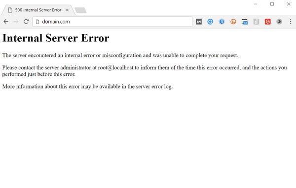 Error interno del servidor